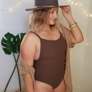 Seafolly Aus Olive Ribbed One Piece Swimsuit 14